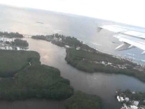 Our view from a plane Landing in Puerto Rico 6/28/08