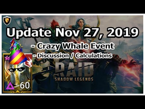 RAID Shadow Legends | Update Nov 27, 2019 | Crazy Whale Event??!