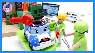 Robocar Poli special clip, rescue tool, Amber repair & fix a car, Hospital playset ♥ [TOY WIZARD]