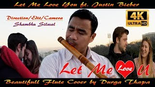 Let Me Love You || ft  Justin Bieber || Flute Cover by Durga Thapa || 4k video  || By LIFEWITHMUSIC