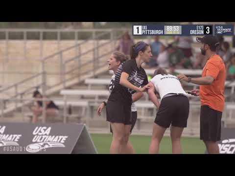 Video Thumbnail: 2019 College Championships, Women's Pool Play: Pittsburgh vs. Oregon