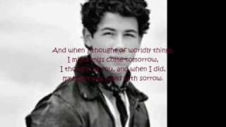 When Tomorrow Starts Without Me; Nick Jonas