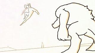 Desenho Animado Historia em Portugues ☆ CUEIO - Luta na Praia ! ! ! ☆