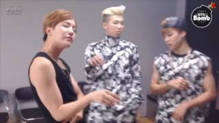 BTS J-hope, Rapmonster and Jimin dance 'Sugar free'  by T-ara