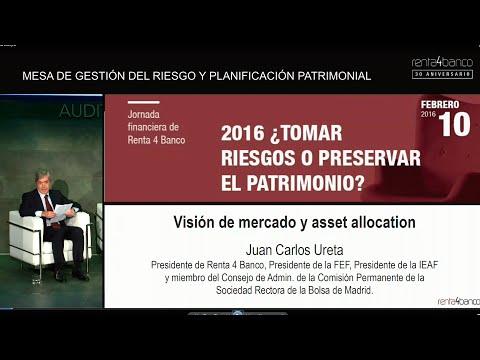 Jornada financiera Renta 4 Banco: 2016 ¿Tomar riesgos o preservar el patrimonio? Intervención de D. Juan Carlos Ureta