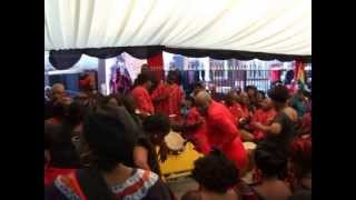 Agbadza dance by Noviha UK at President Mills Funeral in London