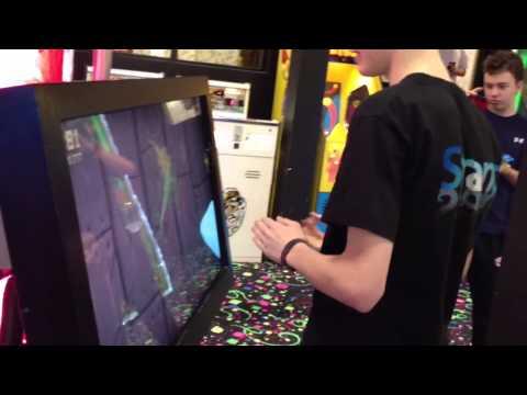 Dalton being a ninja at Fruit Ninja game