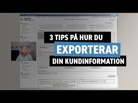 Exportera dina kunders e-postadresser - Specter affärssystem