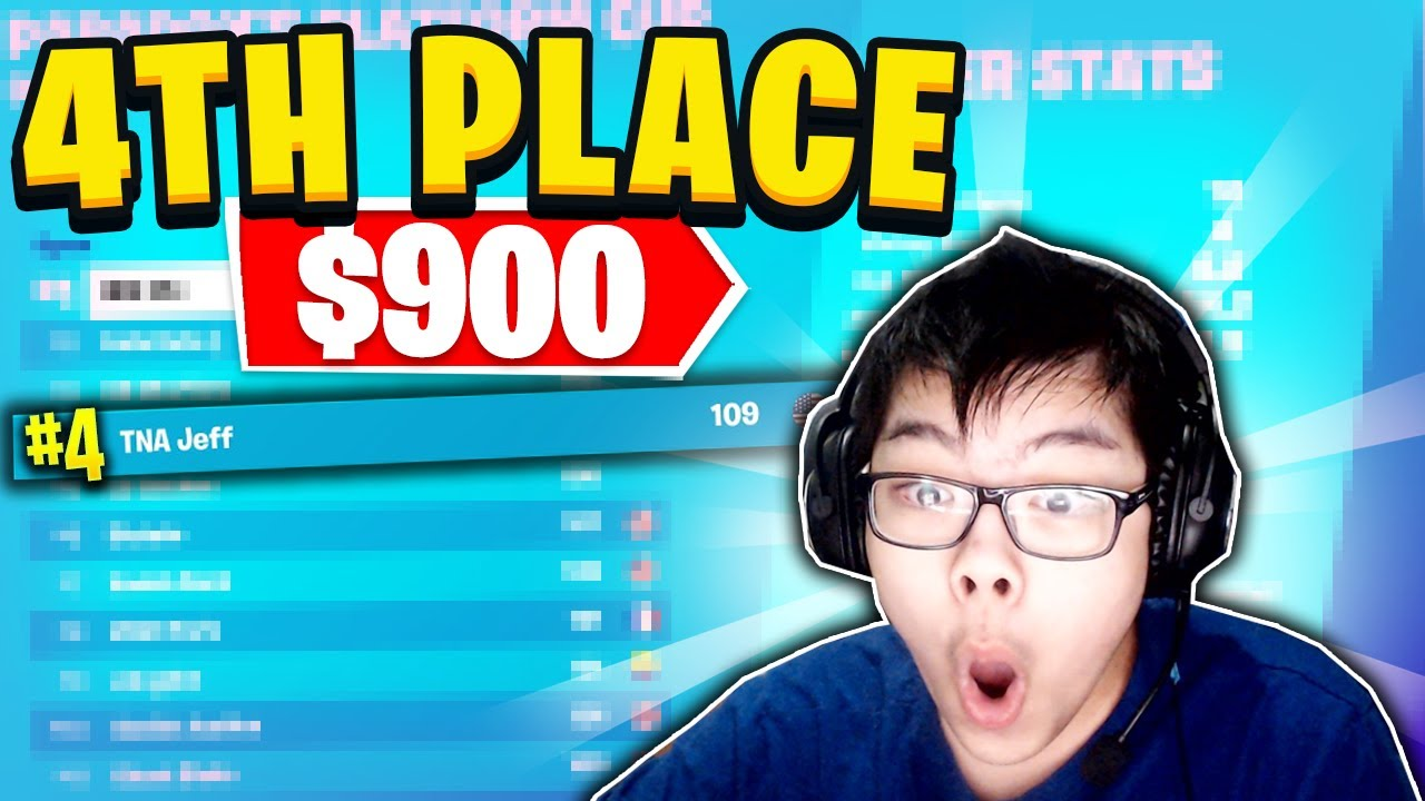 AsianJeff - How I Placed 4TH PLACE IN THE SOLO CASH CUP ($900)