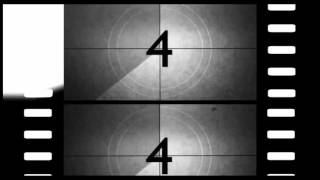 OLD MOVIE COUNTDOWN (v99) film intro with sound effects HD NEW! timer