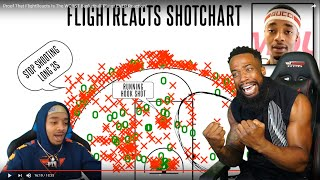 FLIGHT REACTS TO ALL HIS L's & SHOT MISSES! FLIGHTREACTS SHOTCHART!