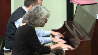 Maple Leaf Rag four hands on piano by Sue Keller & Dave Majchrzak