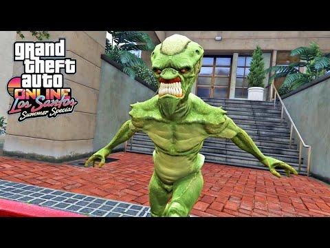 لقد تحولت إلى مخلوق فضائي في لعبة جي تي أي أونلاين | GTA Online The Alien Outfit