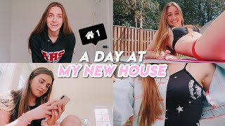 a day in my life at my new house !!