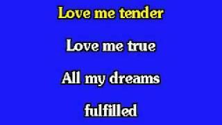 ELVIS KARAOKE-LOVE ME TENDER (LIVE).mp4