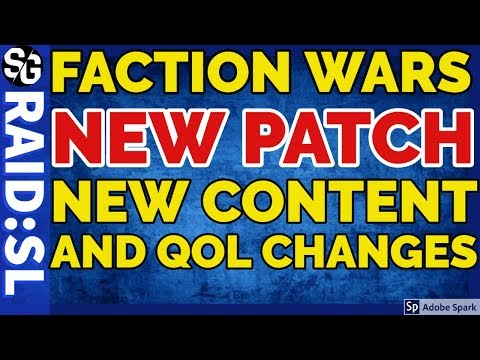 [RAID SHADOW LEGENDS] NEW PATCH NOTES! FACTION WARS QOL IMPROVEMENTS