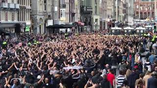 PAOK Fans in the streets of Amsterdam | Ajax Amsterdam - PAOK