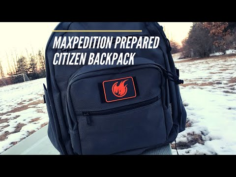 Maxpedition Prepared Citizen Deluxe Backpack: SUPER Low-Profile, Rugged Build, Still CCW Compatible