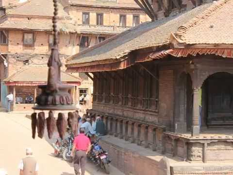 Harmony and Music in the streets of ancient city Bhaktapur in Nepal