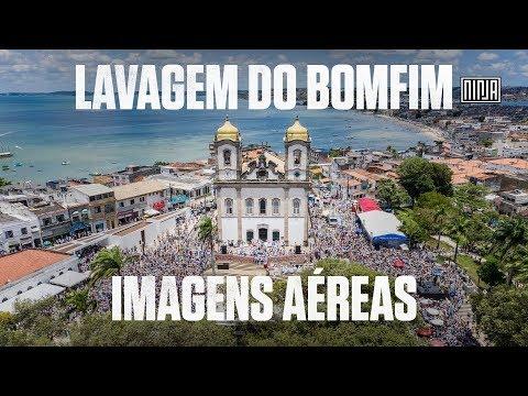 Impressionantes imagens aéreas da Lavagem do Bomfim na Bahia
