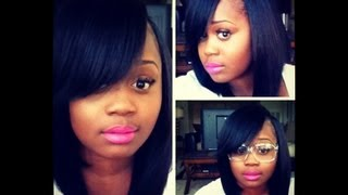 Cool Im Finished My Upart Styled Bob Youtube Short Hairstyles For Black Women Fulllsitofus