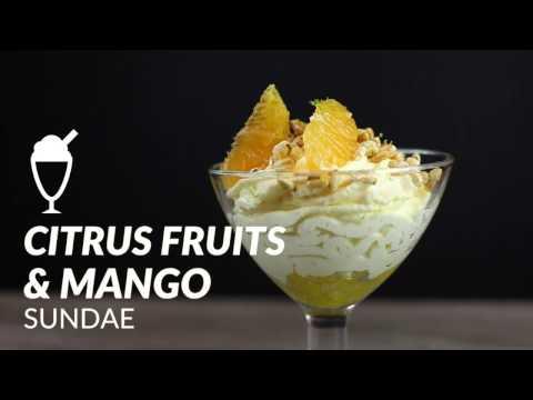 Copa de cítricos y mango