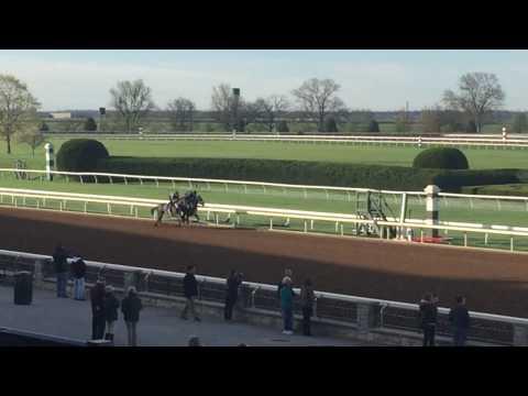 Mo Bourbon on the rail at Keeneland 4-8-17