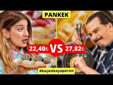 Ferhat'ın 27,82₺'lik Pankek Tarifi vs Yasemin'in 22,40₺'lik Pankek Tarifi #KaçaOlsaYaparsın