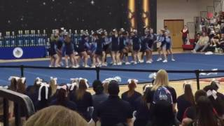 W.T. Chipman cheerleading: States 2016