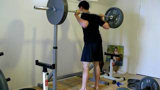 20 rep squat with 225 lbs @ 145 lbs bodyweight