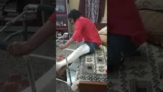 Leg fracture Pakka Plaster Sangeeta