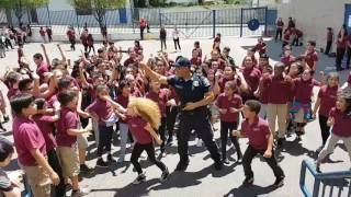 Police Officer at Lincoln School Wiggle Dance (I Wanna Fly)