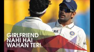 MS dhoni Funny Mic recording during live match on stumps