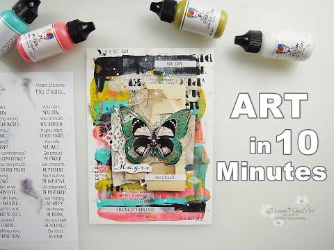 Using Acrylic Paints Art Journal Page ♡ Maremi's Small Art ♡