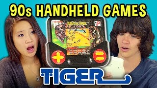TEENS REACT TO 90s HANDHELD GAMES (Tiger)