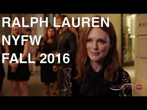 RALPH LAUREN | FALL 2016 | CELEBRITIES AND RUNWAY AT NYFW
