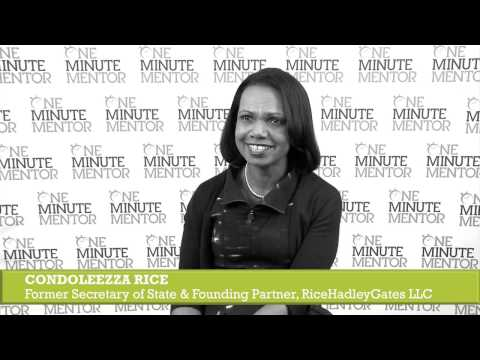 Hearst One Minute Mentor: Condoleezza Rice on Collaboration