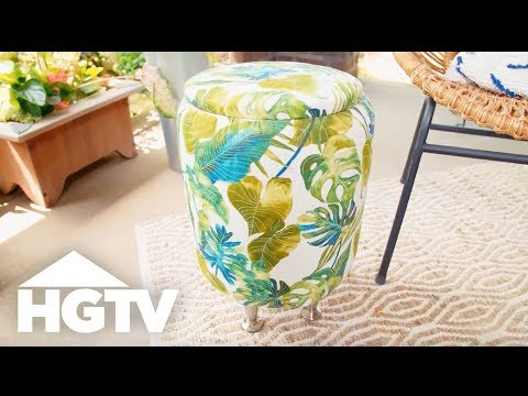 Upcycle a Bucket Into a Storage Table - Easy Does It - HGTV