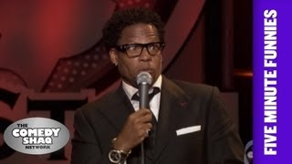 D.L. Hughley⎢Don't mess around with a Tiger!⎢Shaq's Five Minute Funnies⎢Comedy Shaq