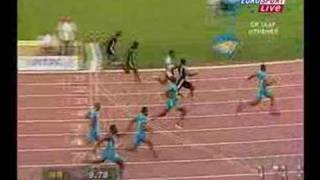 Asafa Powell Breaks the 100m World Record width=