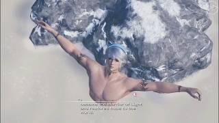 Mobius Final Fantasy: Echo & the Warrior of Light enjoying the hot spring