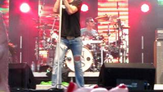 Disappear INXS JD sorts out wardrobe malfunction on stage! Recorded on Camera for better quality