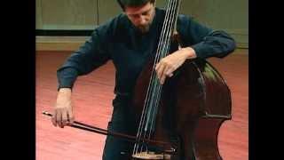 Bach Cello Suite No. 1, IV. Sarabande - Jeff Bradetich, double bass