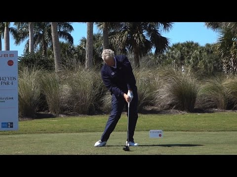 COLIN MONTGOMERIE 120fps SLOW MOTION & REGULAR FACE-ON DRIVER GOLF SWING 2016 FOOTAGE 1080p HD