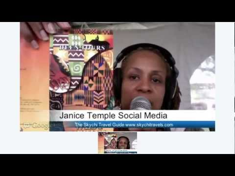 Janice Temple Social Media Guru at  African Festival Chicago LIVE