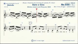 NATAL - Bate o Sino - ( Notas musicais, letra, acordes, karaokê )