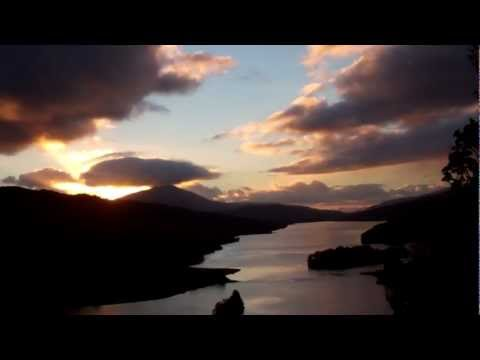 Autumn Setting Sun Queen's View Loch Tummel Highland Perthshire Scotland