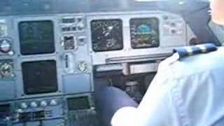 Voo na cabine do aviao