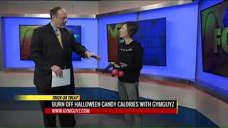 Katie Mackenzie of GYMGUYZ St. Louis MO on Fox 2 News in How To Burn Off That Halloween Candy