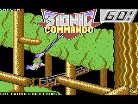 Commodore 64: Bionic Commando game ending by GO! and Capcom